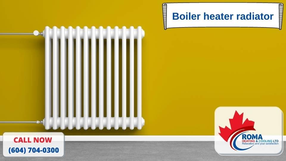 Boiler heater radiator